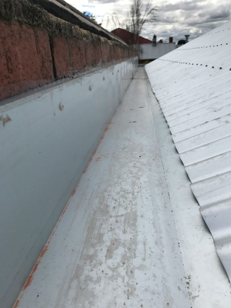 roof leak repair with new zincalume box gutter replacement, West Geelong