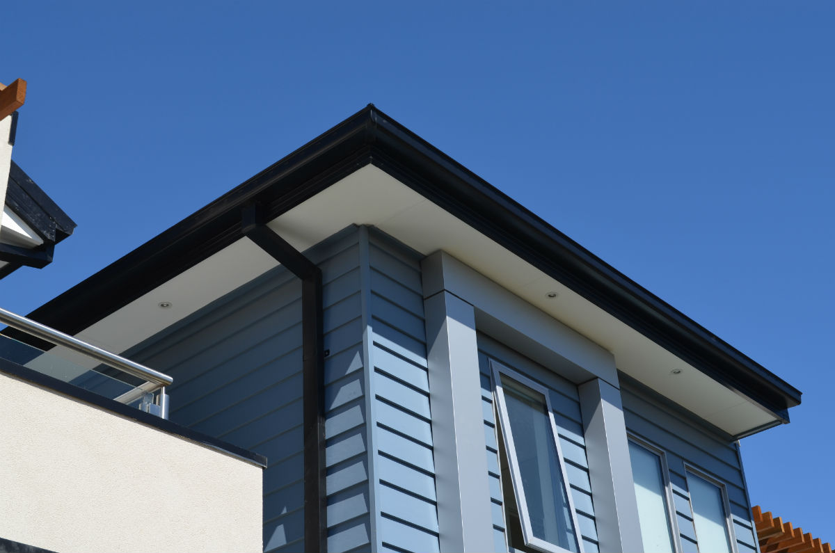 Metal Fascia Cover on modern house, Geelong